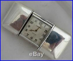 Movado Ermeto Chronometre Pocket watch Silver Case 46 mm. X 32 mm. Aside