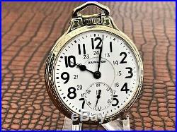 NICE Hamilton 992B Railway Special 24 Hr. Dial, BOC Case Pocket Watch