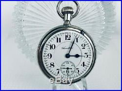 NICE Hamilton 992 Railroad Pocket Watch 21j 16s Salesman Case SERVICED