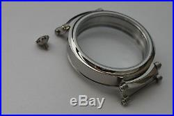 New 51 mm Stainless Steel Case for Conversion Chronograph Pocket Watch Movements