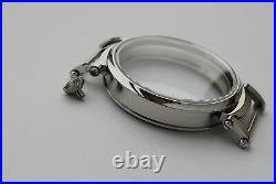 New 52mm Stainless Steel Case for Conversion Pocket Watch Movement 18,8 mm thick