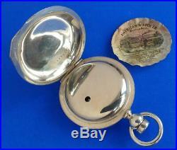 Nice Waltham Robbins Hunter Case Watch with Case Paper Heavy 5oz Silver Case