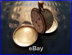 Old Elgin Sterling Silver Hunter Case Pocket Watch