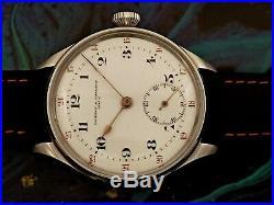 Old Pocket Watch Movement Vacheron Constantin in Wristwatch Case