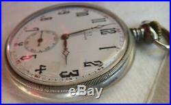 Omega Pocket Watch Open Face nickel chromiun case 50 mm. In diameter