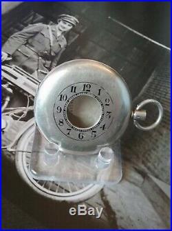 Omega Sterling Silver Pocket Watch Case Third Dragoon Gaurds 1912