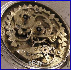 One of a Kind Silver Case and Movement 150-Years-Old Swiss Pocket Watch MINT