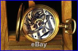 Outstanding Hebdomas 8 Day Gun metal Cased Calendar Pocket Watch Ca. 1910