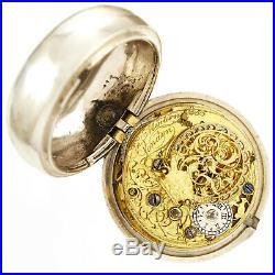 Pair Case Keywind Verge Pocket Watch By English Watchmaker John Mintern C1760s