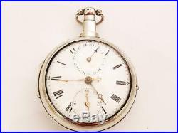 Pair Case Verge Fusee Calendar / stop watch pocket watch dated 1776. No178