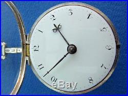 Pair Cased Pocket Watch Verge Fusee F. Richards 1797 Montre Coq Spindeluhr
