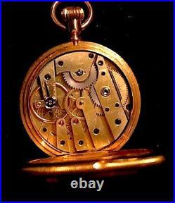 Patek Philippe 38mm 18k Gold Hunter Case Pocket Watch