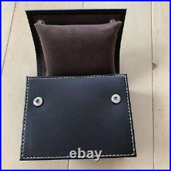 Patek Philippe VIP Dark Brown Leather Watch case Travel Pouch Authentic USED