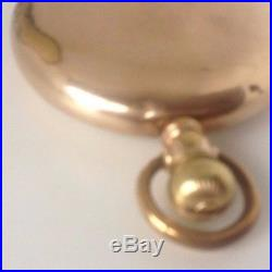 RARE 1907 South Bend Grade 295 Pocket Watch 21j, 16s swing out OF GF case