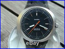 RARE OMEGA Geneva Dynamic CAL 601 Stainless Steel case MENS WATCH MANUAL WIND