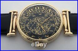 Rare Big ANTIQUE DOXA S. A. Swiss Wristwatch in Gilt case