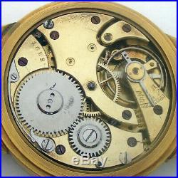 Rare Big ANTIQUE P. MOSER Schaffhausen Swiss Wristwatch Gilt case