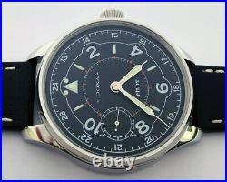 Rare Big Military DOXA Swiss Wristwatch in Steel Case STYLE Aviator Pilots WW2