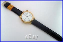 Rare Big Swiss Watch T. Moser Gilt Case with Enamel Dial