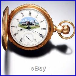 Rare Dominion Railways Signed Waltham Pocket Watch With 10k Box Hinge Case Ca188