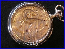 Rare Hamilton 940 Special 21j 18 Size Ls Beautiful Gold Trim Mov't Display Case