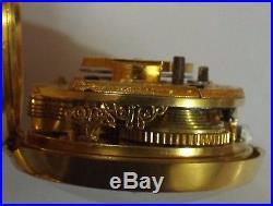 Rare Mint Large 4 Case Turkish Market Edward Prior Watch Verge Fusee Working