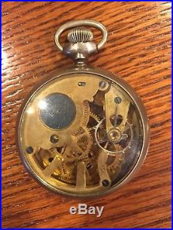 Rare New England Watch Company Skeleton Watch In Factory Glass Back Case
