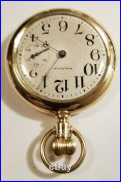 Rare Waltham 21J. Adj. Model 1872 grade A. W. Co. Only made 1,930 14K G. F. Case