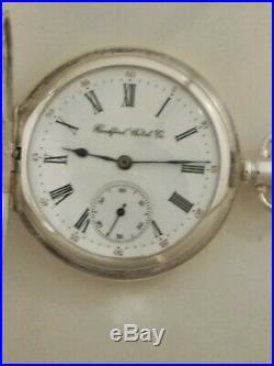 Rockford 16S RARE 21 jewels Grade 700 (1914) Sterling silver hunter case