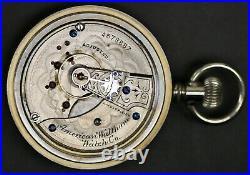 Running Waltham Grade 25 Model 1883 15J 18S Elgin Case Pocket Watch