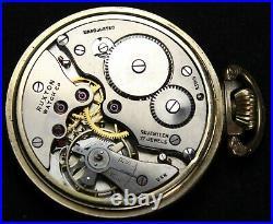 Ruxton Railroader 17j 49mm Pocket Watch OF RGP Case Parts/Repair