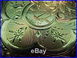 SUPER-CRISP MINTY MODEL 1888 14K SOLID GOLD 17s HUNTER CASE ANTIQUE POCKET WATCH