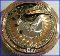 Seth Thomas 11 jewels Two-tone movement grade 36 (1896) 14K. Gold filled case