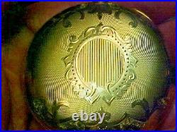 Sharp 18S Leverset Fancy Engraved 20 Year Gold Filled Hunting Pocket Watch Case