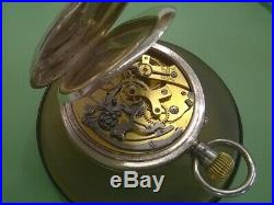 Silver Cased Silver Pocket Watch Chronograph -1909