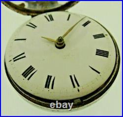 Silver George III Pair Cased Pocket Watch Verge Fusee London T Goodwin