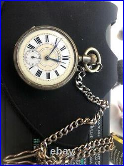 Silver Swiss Pocket Watch With Fancy Engraved Movement And Case