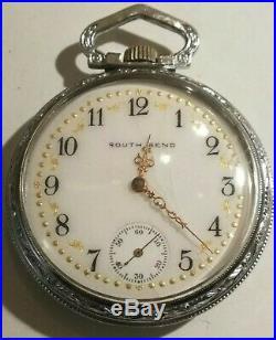 South Bend 16 size 15 jewels fancy dial (1908) grade 281 base case