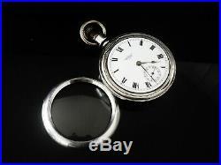 Stem Wind Silver Waltham Pocket Watch, Birmingham 1913 Dennison Case