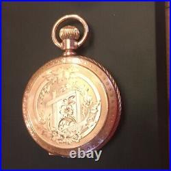 Stunning Elgin 10k Solid Gold Watch Dueber Drum Case