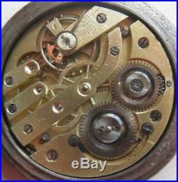 Triple Date & Moon Phase Pocket Watch Open Face Gun Case 52,5 mm. In diameter