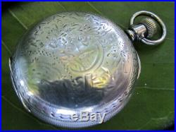 U. S. Made 1892 Antique Waltham Pocket Watch 11 jewels, Coin Silver hunter case