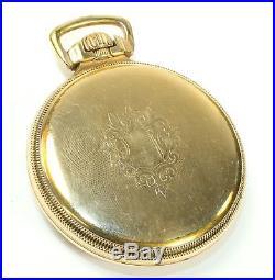 VERY NICE KEYSTONE J. BOSS 16s RR GOLD FILLED POCKET WATCH CASE 46g AD46