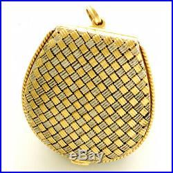 Vacheron Constantin Rare Gold Basket Weave Case Purse Watch Ca1920s