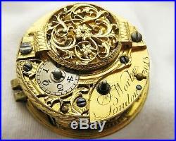 Verge fusee Pocket watch repousse case John Worke London year 1783