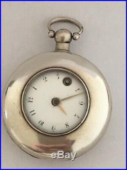 Very Old Rare Verge Fusee Silver Half Hunter Cased London Maker Pocket Watch