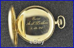 Vintage 12 Size Waltham Royal Pocket Watch From 1904 Masonic Case Keeping Time