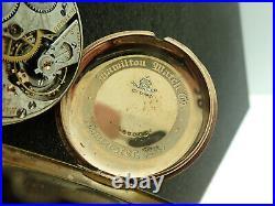 Vintage 16 Size Hamilton 992 Montgomery Dial With Hamilton Signed Swingout Case