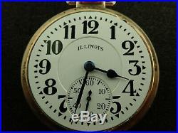 Vintage 16 Size Illinois Bunn Special Elinvar 161a With Rose Gold Bunn Case 60hr