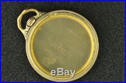 Vintage 16s Hamilton Stiff Bow Railroad Pocket Watch Case Lever Set